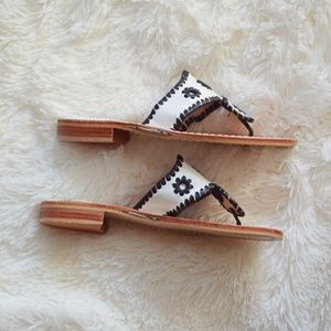 Jack Rogers Shoes - Jack Rodgers White and Black Sandal Size 6